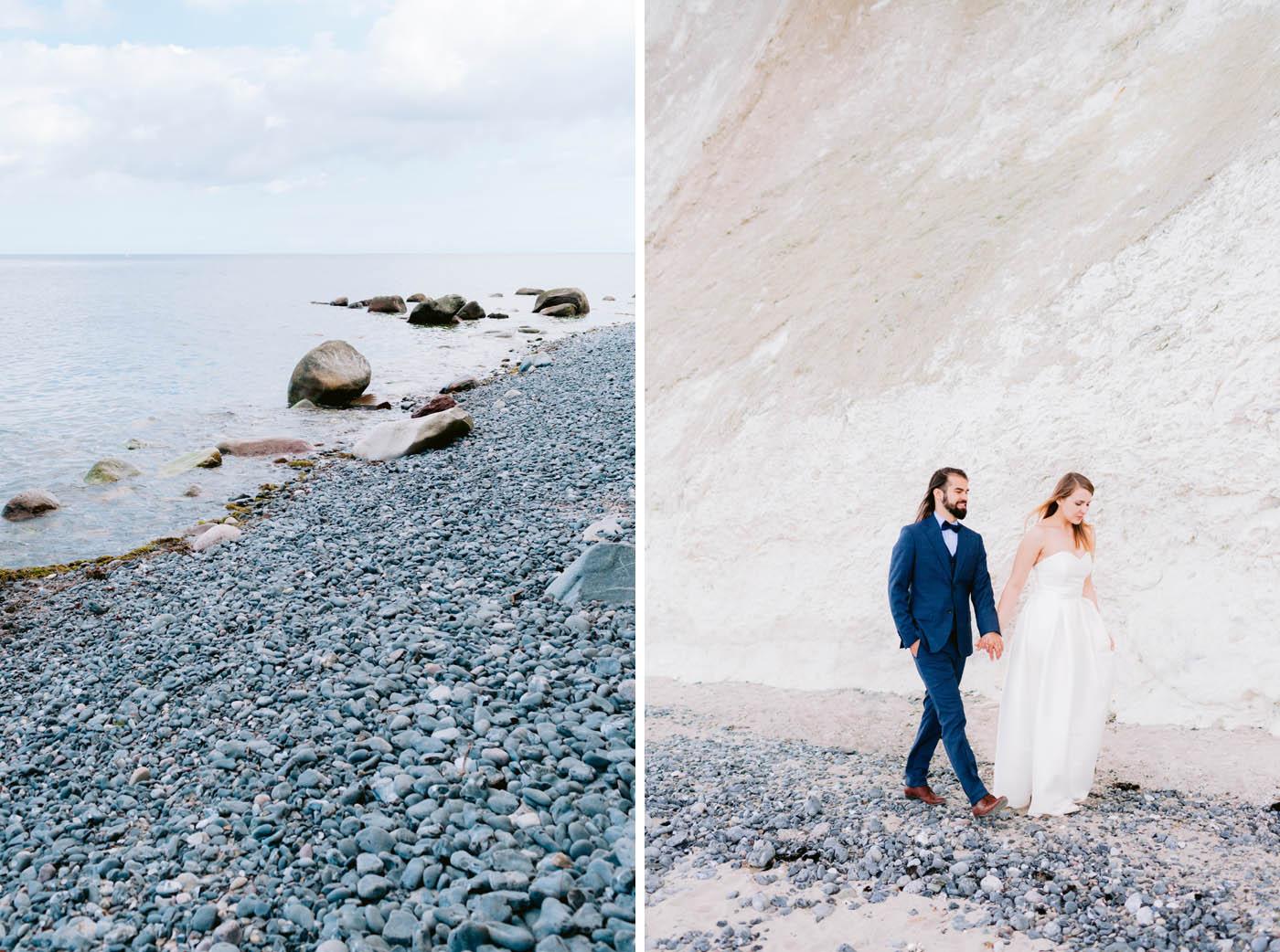 sesja ślubna nad morzem w danii