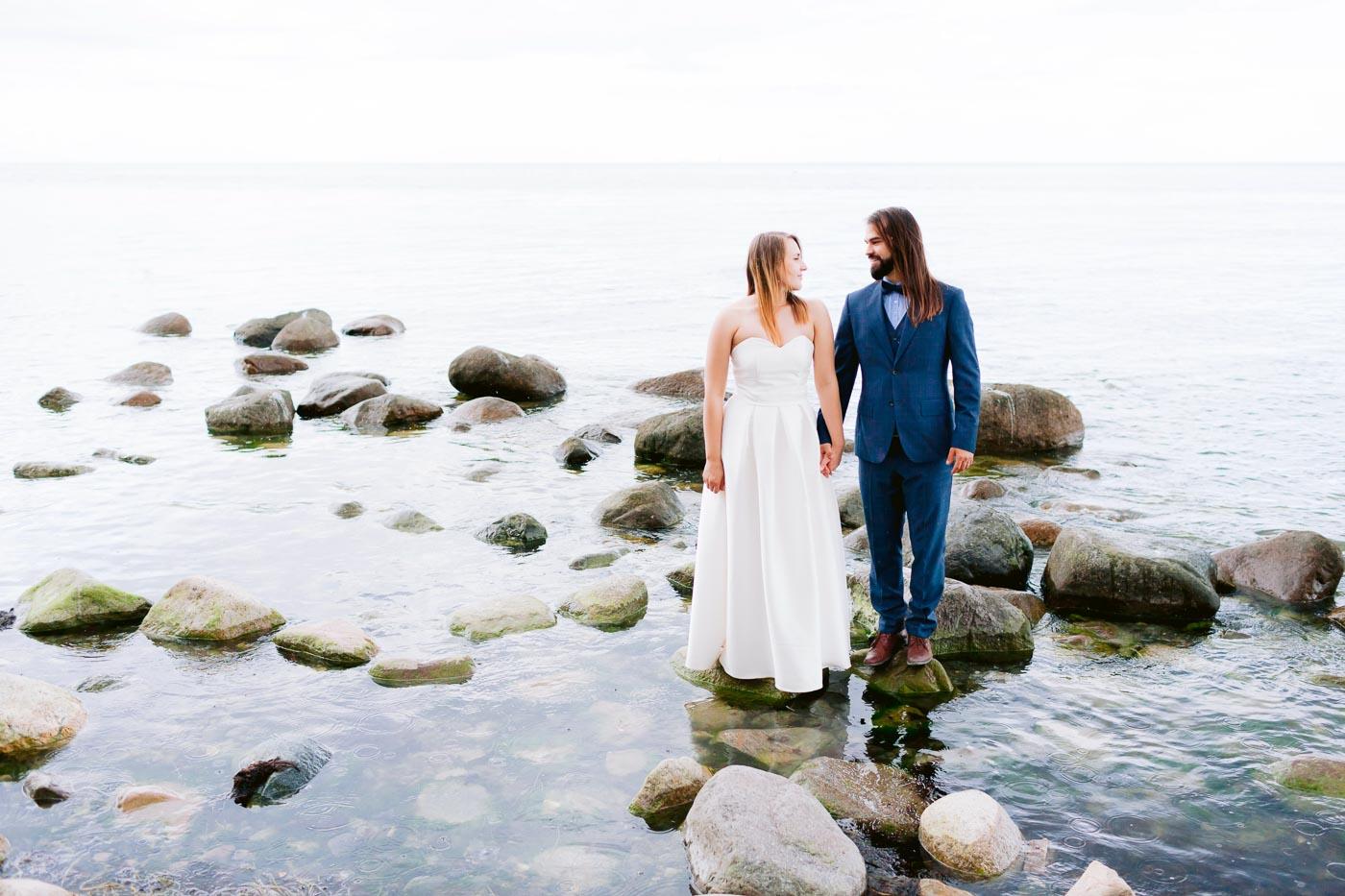 sesja ślubna za granicą na klifach mons klint