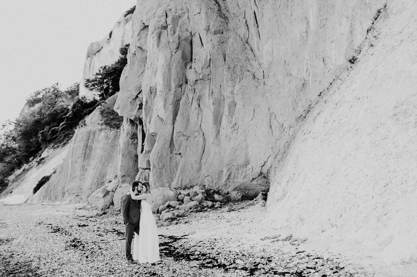 sesja poślubna na klifach mons klint