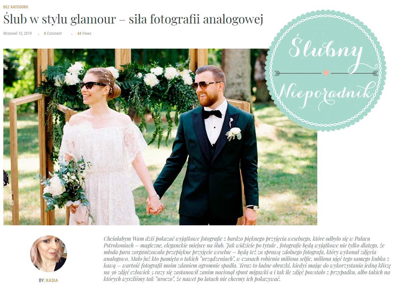 analogowy reportaż ślubny publikacja na blogu ślubnym