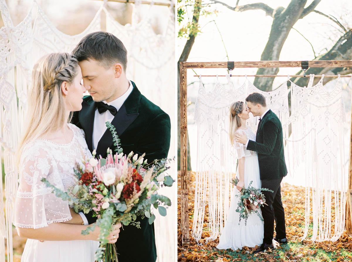 analogowa sesja ślubna