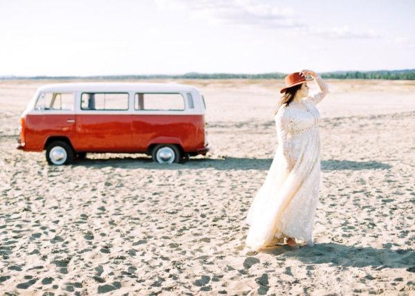 sesja Volkswagen transporter panna młoda