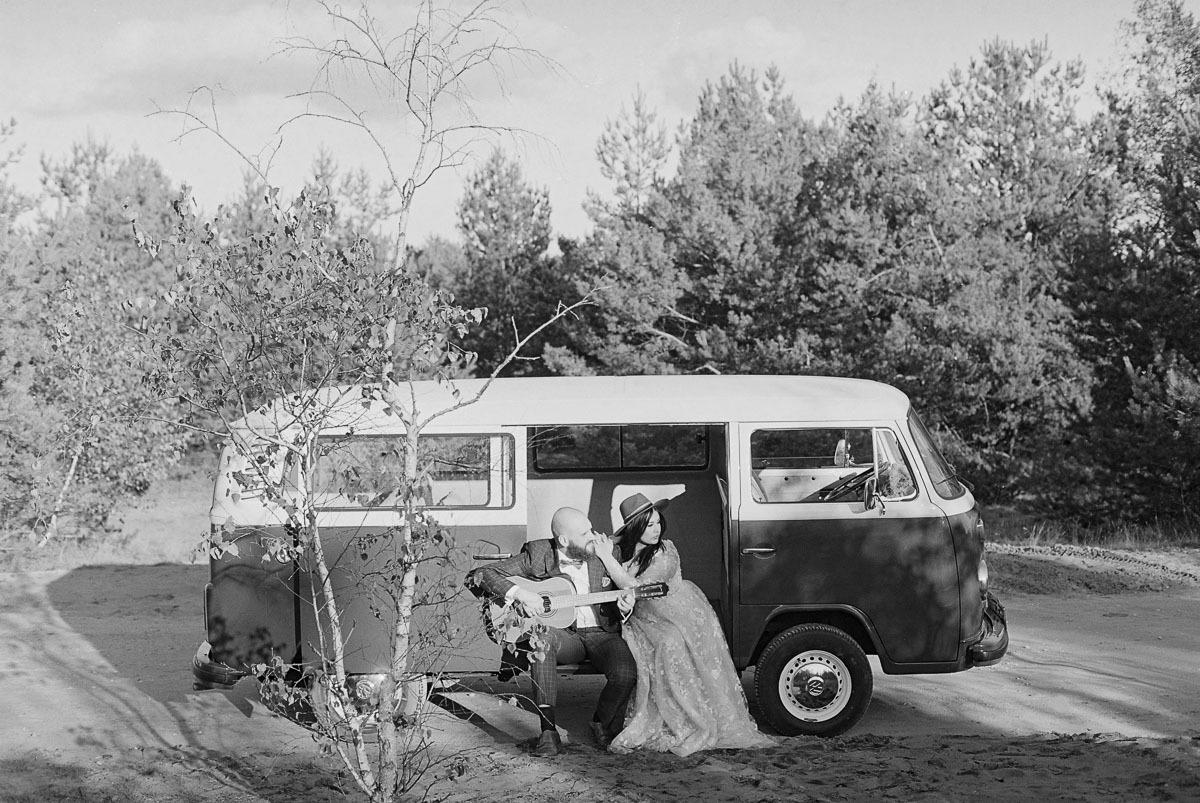 sesja ślubna Volkswagen ogórek