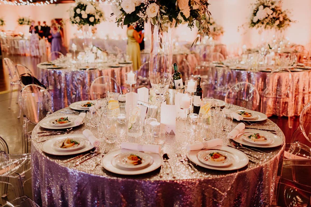wesele glamour kielce okrągłe stoły