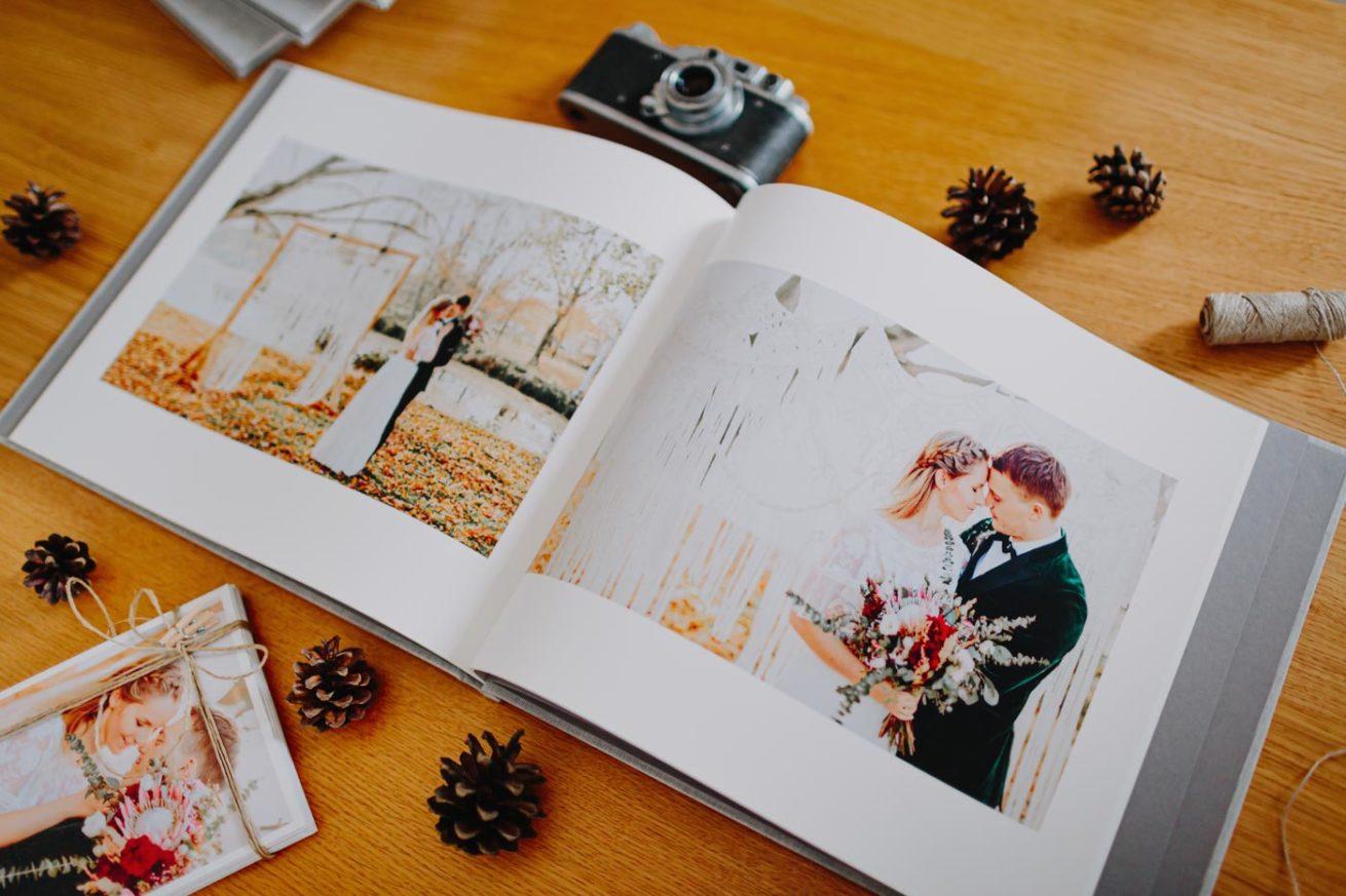 Album fotoksiążka ślubna krukbook