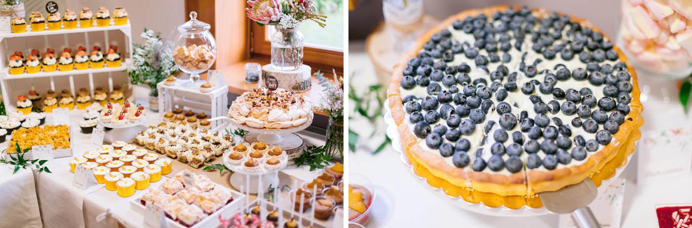 słodki bufet wesele rustykalne