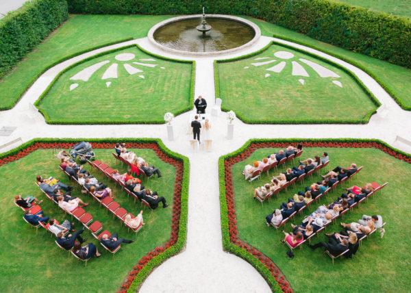 ślub plenerowy pałac brunów wesele