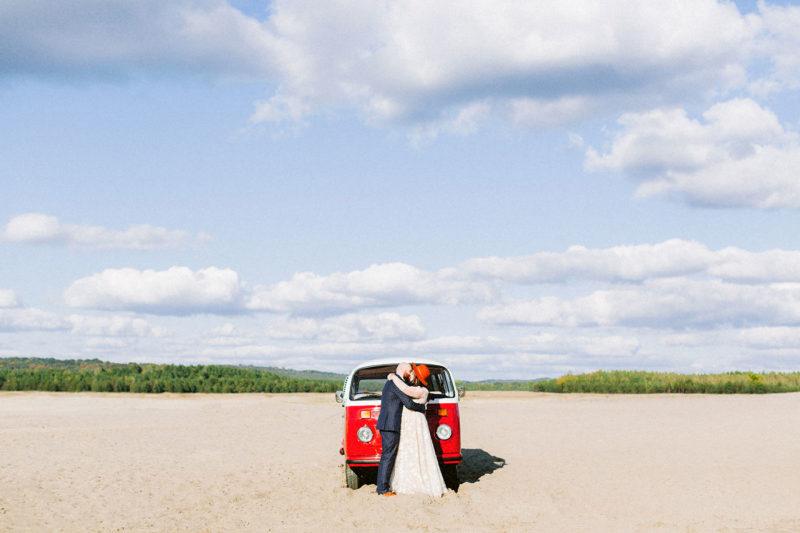 sesja ślubna-aparatem analogowym pustynia błędowska