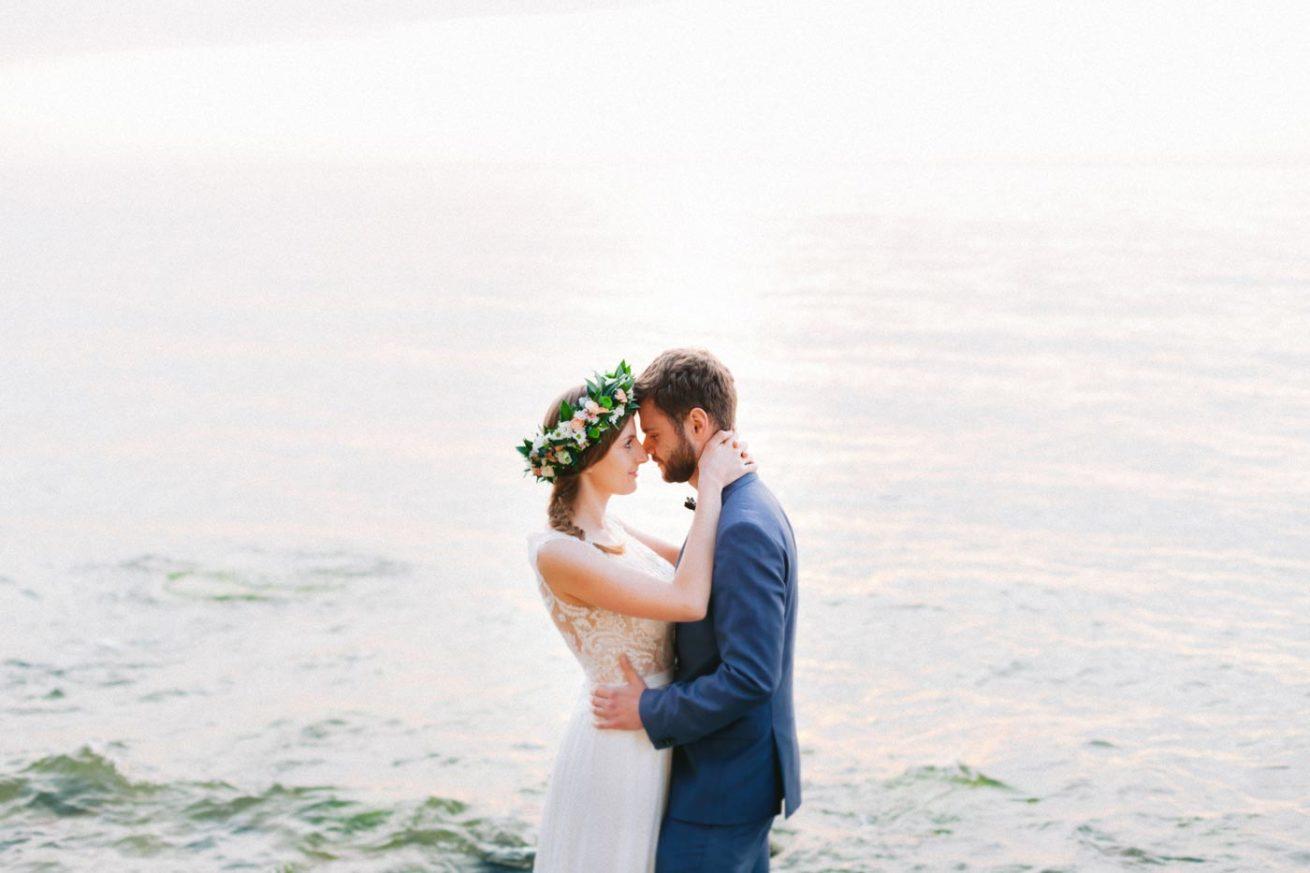 sesja ślubna nad morzem orłowo klif fine art
