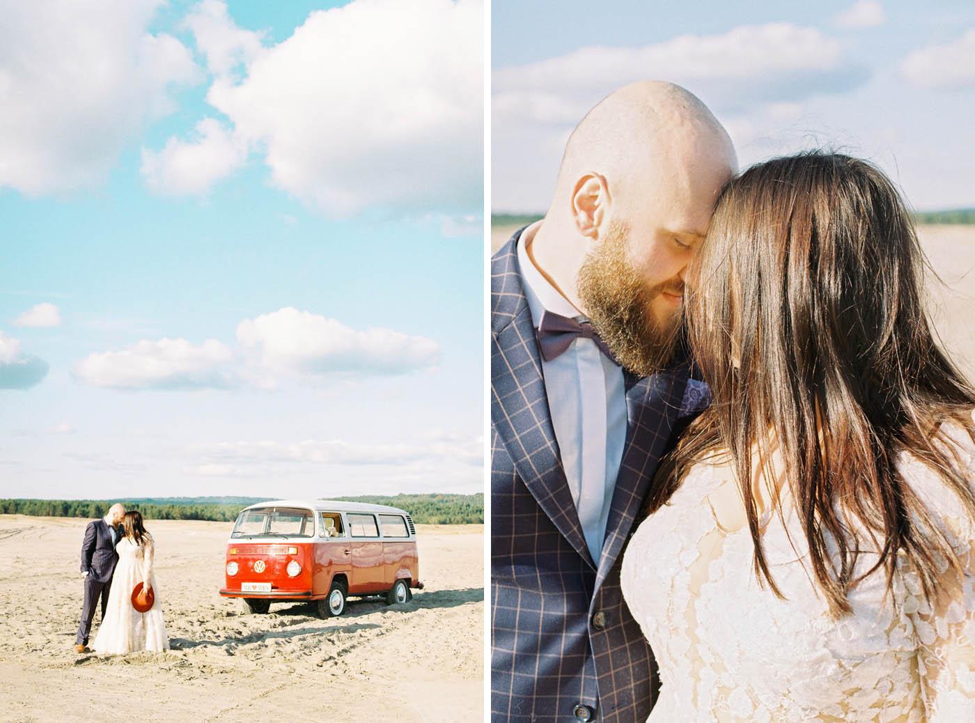 volkswagen ogórek na sesję poślubną