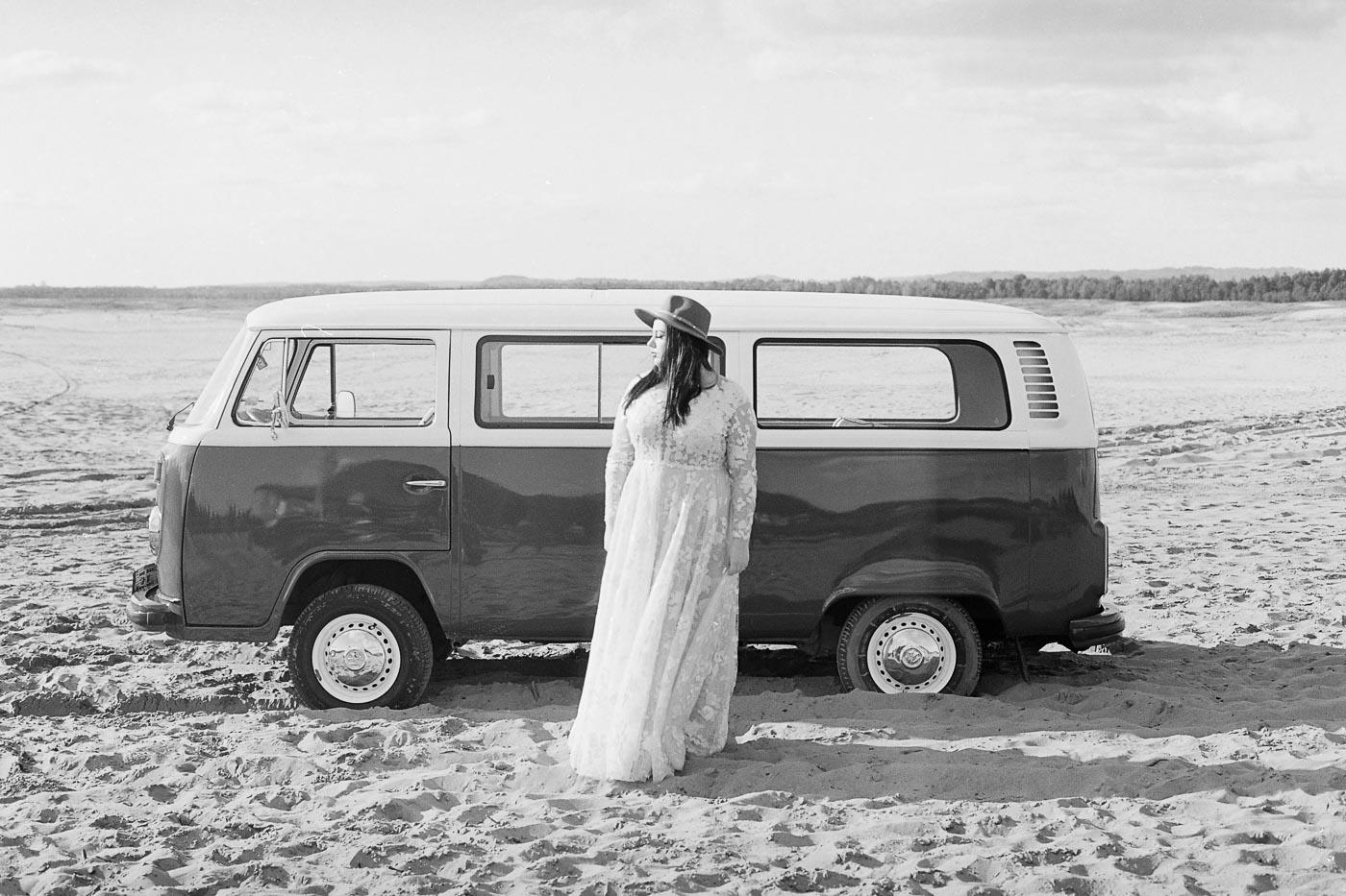analogowa sesja poślubna na pustyni